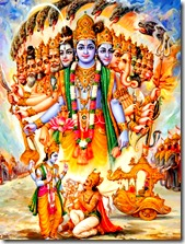 Krishna displaying His universal form