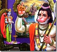 Hanuman performing deity worship