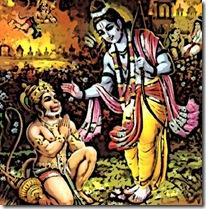 Rama with Hanuman
