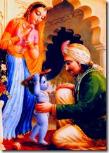 Baby Krishna giving joy to His parents