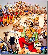 Rama and His army battling Ravana