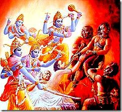fight for Ajamila's soul