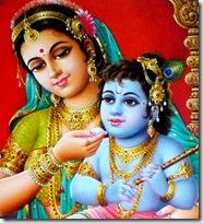 Bala Krishna and Mother Yashoda