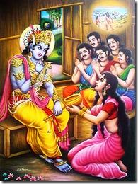 Krishna always protected the Pandavas
