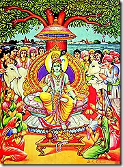Lord Krishna and devotees