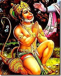 Hanuman, a great devotee