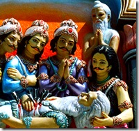 Bhishma remembering Krishna at the time of death