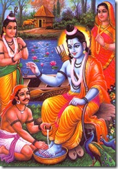 Lord Rama greeted by Guha