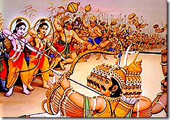 Rama and His army battle Ravana