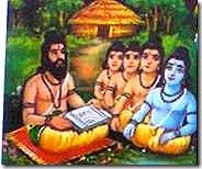 Rama and brothers at Gurukula