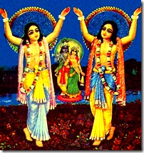 Lord Chaitanya and Prabhu Nityananda