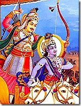 Krishn and Arjuna