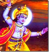 Lord Krishna on the attack