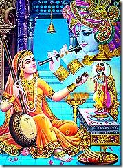 Mirabai performing devotional service