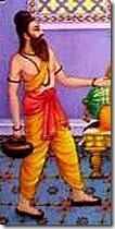 Vishvamitra approaching Dasharatha
