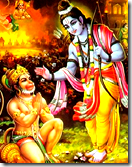 Lord Rama with His devotee Hanuman