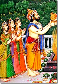 Dasharatha with wives