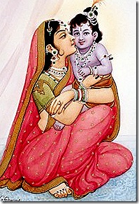 Mother Kausalya with Lord Rama