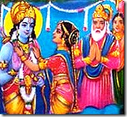 Sita declaring Rama the winner