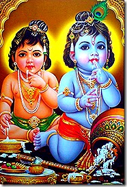 Krishna and Balarama as children