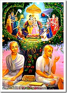 Rupa and Sanatana Gosvami writing books