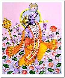 Lord Varaha lifting the earth