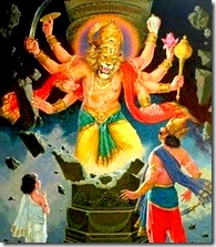 Lord Narasimhadeva - God's half-man half-lion form