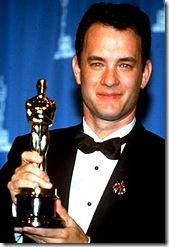 Tom Hankds winning an Oscar