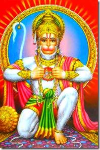 Hanuman showing Sita and Rama in his heart