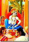 Shukadeva discussing Krishna