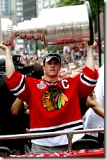 Captain Jonathan Toews during the parade