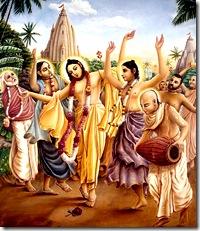Lord Chaitanya spreading Krishna consciousness