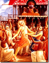 Lord Chaitanya dancing