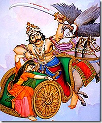 Jatayu fighting Ravana