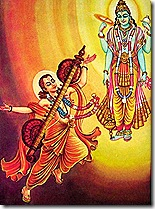Lord Vishnu with Narada Muni