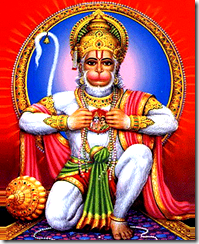 God residing in Hanuman's heart