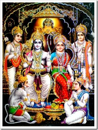 Sita, Rama, and family