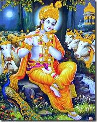 Krishna playing His flute