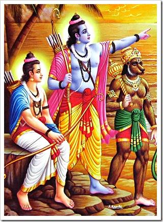 Rama and Lakshmana with Sugriva