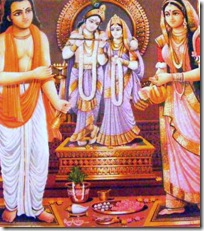 Worship of Radha and Krishna