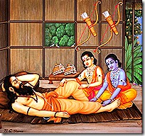 Rama and Lakshmana with Vishvamitra