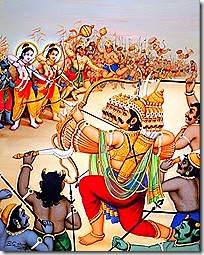 Rama's forces fighting Ravana