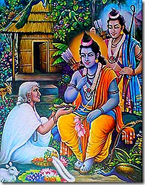 Rama and Lakshmana with Shabari