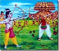 Lord Rama fighting Ravana