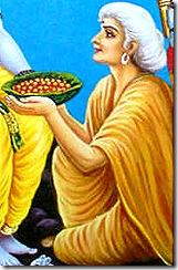 Shabari welcoming Rama