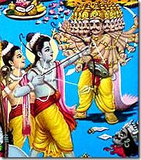 Rama and Lakshmana's fight with Ravana