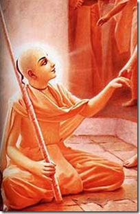 Lord Chaitanya as a sannyasi