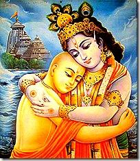 Lord Krishna with Lord Chaitanya