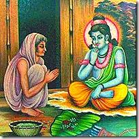 Shabari meeting Rama