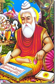 Valmiki composing the Ramayana